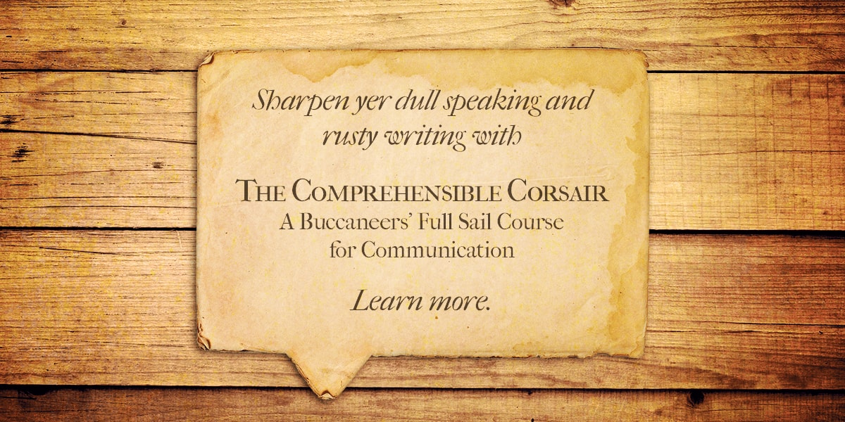 A bland, but clearly written advertisement for a pirate communication course.