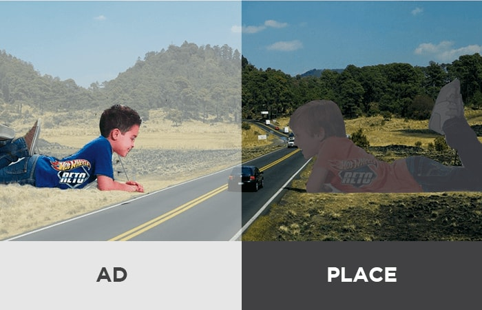 Visualization of the importance of both the advertisement itself, and the placement of the ad.